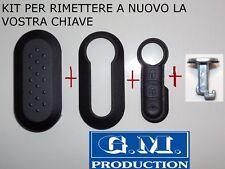 KIT COVER TASTI TASTO BLOCCAGGIO RIPRISTINO CHIAVE FIAT 500 - PLASTICHE ESTERNE