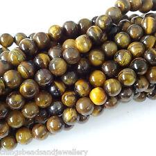 Gemstone Tiger Eye Round Beads 4mm 6mm 8mm 16 Inch