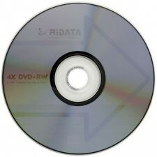 10-Pak RIDATA =4X SPEED= Logo-top DVD+RW Media in Cakebox