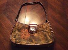 Fossil Leather and Tapestry Handbag Medium