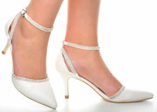 Zapatos de tacón de mujer de piel color principal blanco talla 37