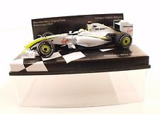 Minichamps Mercedes-Benz Museum Brawn GP BGP 001 Button 2009 neuf 1/43 MIB RARE