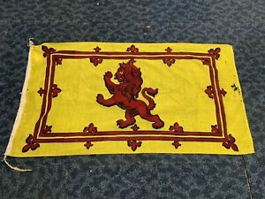 Vintage Linen Lion Rampant Scottish Flag 130cm x 70cm