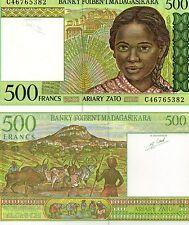 MADAGASCAR Africa 500 Francs UNC 1994 p-75