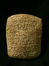 Rare Near Eastern Cuneiform clay Tablet With Early Form Of Writings