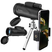 MoKo 12X50 High Power BAK4 Prism Monocular Telescope w Tripods+Smartphone Holder