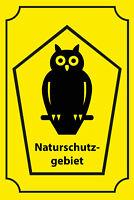 Naturschutzgebiet Eule Blechschild Schild gewölbt Tin Sign 20 x 30 cm CC0251