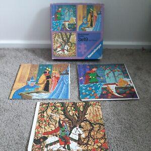 Vintage Regensburger Puzzels 3x49 Telie pieces. Walt Disneys