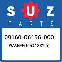 09160-06156-000 Suzuki Washer(6.5x18x1.6) 0916006156000, New Genuine OEM Part