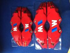 Red BMW M POWER Brake Caliper Cover Disc Caliper Cover L+M 18 Inches and up