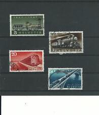 Schweiz, 1947, Satz, gestempelt, Eisenbahn, Mi.-Nr. 484-487, PF?