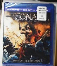NEW CONAN THE BARBARIAN ON 3D BLU-RAY+2D BLU-RAY+HD ULTRAVIOLET! FACTORY SEALED