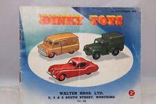 Dinky Toys 7/754/600 Catalogue UK september 1954 orginal condition
