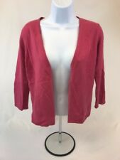 Ann Taylor Women's Pink 2-Ply Cashmere Long Sleeve Open Cardigan Sz S