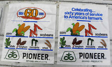 2 Sacks, 1926-1986 PIONEER SEED 60 Years, Corn, Soybeans, Alfalfa, Wheat,Sorghum
