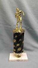 Football black theme trophy award wide marble base