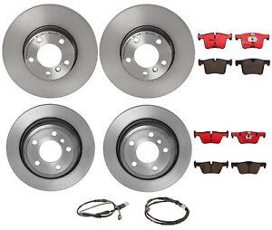 Brembo Front & Rear Brake Kit Disc Rotors Ceramic Pads & Sensors For BMW F30 F36