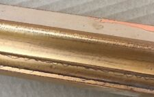 """1 1/4"""" Broken Gold with Red Picture Frame Moulding 9/16"""" Deep 18 ft of Molding"""