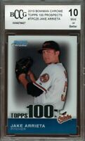 2010 bowman chrome topps 100 prospects #tpc25 JAKE ARRIETA rookie BGS BCCG 10