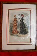 Gravure de mode 1880 - La Mode Illustrée