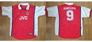 ARSENAL Home Football Shirt 1999 2000  Nike XXL JVC Soccer Jersey ANELKA #9
