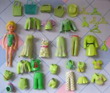 GREEN SHADES Fashion Polly Pocket Doll rubber Clothes Outfit Clothing Dress LOT