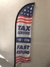 TAX FEATHER FLAG 7FT WITH POLE