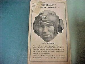 Antique 1924 EVERLAST Boxing Record Book / Highlights of 1924 Boxing ~ Dempsey++