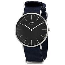 NEW DANIEL WELLINGTON DW00100149 BLACK SILVER 40MM CORNWALL BLACK DIAL WATCH