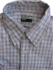 PAUL SMITH Shirt Mens 15 M Blue & White Check SHORT SLEEVE