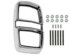 New 1967 Fairlane Taillight Bezel Chrome with Black Inlay 500 XL Ford