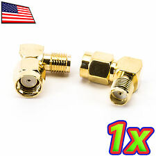 1x 90 Degree Right Angle RF RC Wifi Antenna Adapter SMA Female to RP-SMA Male