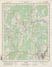 Russian Soviet Military Topographic Map – LIMBAŽI (Latvia), 1:50 000, ed. 1983
