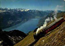 Berner Alpen Brienz-Rothorn-Bahn Talfahrt Bergbahn Alpen color Ansichtskarte