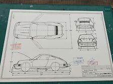 Porsche 911 SC G Modell ab 1981 Blueprint / Konstruktionszeichnung