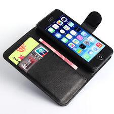 HOUSSE ETUI COQUE CUIR LUXE PORTEFEUILLE A RABAT APPLE IPHONE 5 / 5S / IPHONE SE