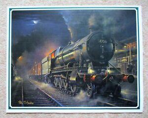 Hawkins Train Railway Art Print King John 6026 Exeter St Davids GWR Philip D