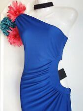 LIPSY SIZE 14 COBALT BLUE STRETCH ONE SHOULDER BODYCON DRESS BNWT