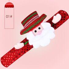 LED Light Glow Xmas Slap Circle Bracelet Wrist Band Christmas Dazzling Toy Gifts Santa Claus