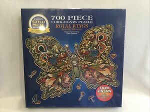 "Butterfly Puzzle ROYAL WINGS Bits & Pieces Cork Jigsaw 700 Pieces 20"" x 27"" NEW"