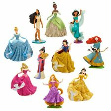 Genuine DISNEY Princess Figure DELUXE Play Set - 10 Pcs Figurines Cake Topper