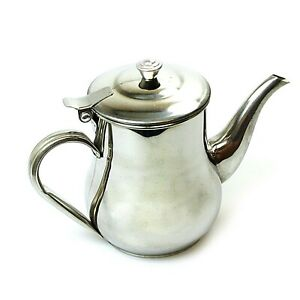 Stainless Steel Home Tea and Coffee Pot With Handle Spout and Lid