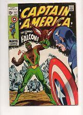 Captain America #117 1ST APP & ORIGIN The FALCON! Fn 6.0 1969 Avengers Iron Man