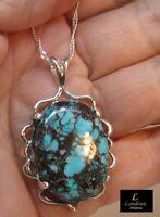40 ct Tibetan Turquoise Gemstone Pendant