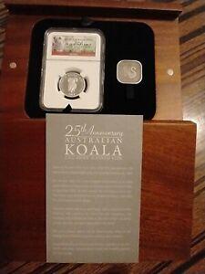 2013-P Australia 25th Anniversary $50 1/2 oz Platinum Koala W/NGC PF70  Box&COA
