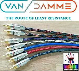 Van damme Linear Cyrstal OFC Gold plated RCA Phono Cable braided price per PAIR