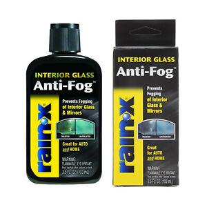 Rain-X Anti Fog Prevents Fogging Treatment Interior Glass Mirror Auto Home 3.5oz