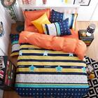 Single Queen King Size Bed Set Pillowcase Quilt Duvet Cover City Life Kid L