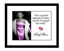 Marilyn Monroe 8x10 Signed photo print with quote pink dress sex symbol star