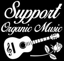 Support Organic Music Decal Sticker Car Window Laptop Rock n Roll Grateful Dead